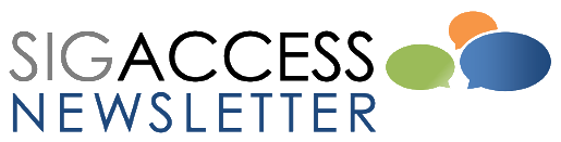 Logo of the ACM SIGACCESS Newsletter.
