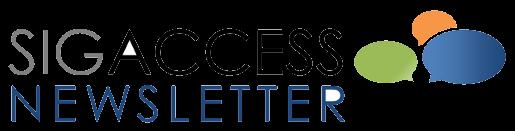 Logo of the ACM SIGACCESS Newsletter.