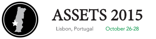 Logo of the 2015 ASSETS Conference, held in Lisbon (Portugal).