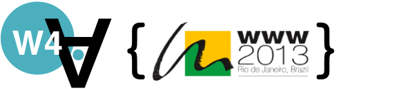 Logo of the 10th International Cross-Disciplinary Conference on Web Accessibility, Web for all 2013, held in Rio de Janeiro (Brazil).