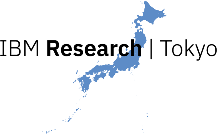 IBM research Tokyo logo, with a silhouette of Japan in the background.